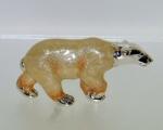 Белый Медведь малый серебро с эмалью ST296-2.