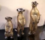 Три сурикаты серебро с эмалью ST391