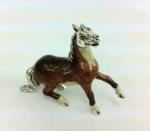 Лошадь большая серебро с эмалью ST110-1