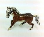 Лошадь малая серебро с эмалью ST110-2