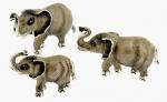 Слоны серебро с эмалью ST290