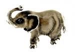 Слон малый серебро с эмалью ST290-3