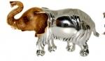 Слон средний серебро ST144-2