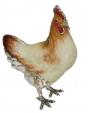 Курица серебро с эмалью ST307-1
