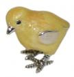 Цыпленок серебро с эмалью ST307-4