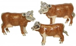 Три Коровы из серебра ST108B