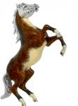 Лошадь серебро с эмалью ST233-2