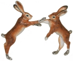 Два Зайца из серебра ST535