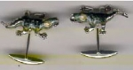 Запонки Крокодилы серебро с эмалью GM95