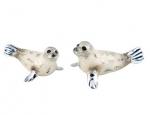 Тюлени серебро с эмалью ST358W
