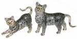 Статуэтка Пара кошек серебро с эмалью.