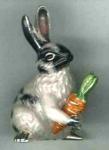 Кролик с морковкой большой из серебра ST643-1