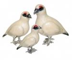 Три Куропатки белых серебро ST458W
