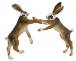 Два Зайца из серебра ST536
