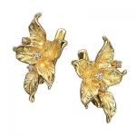 Серьги из золота КРАПИВА С-14018