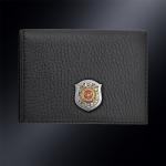 Кожаная визитница МВД РФ на 60 визиток