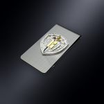 Зажим для денег ГСН ВЫМПЕЛ (эмблема из серебра)