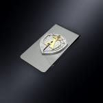 Зажим для денег ЦСН Альфа (эмблема из серебра)