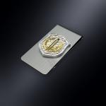 Зажим для денег РВСН РОССИИ (эмблема из серебра)