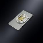 Зажим для денег РЫСЬ (эмблема из серебра)