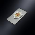 Зажим для денег МЧС РОССИИ (эмблема из серебра)