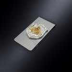 Зажим для денег Министерство обороны РОССИИ (эмблема из серебра)