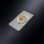 Зажим для денег ФСКН РОССИИ (эмблема из серебра)
