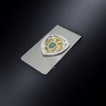 Зажим для денег ФПС РОССИИ (эмблема из серебра)