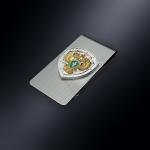 Зажим для денег Прокуратура РОССИИ (эмблема из серебра)