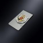 Зажим для денег ВМФ (эмблема из серебра 925 пробы)