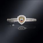 Серебряный зажим для галстука ФСО РОССИИ (серебро 925 пробы)