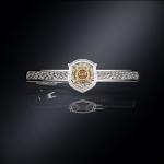 Серебряный зажим для галстука МВД РОССИИ (серебро 925 пробы)