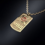 Золотой жетон МВД РОССИИ