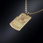 Золотой жетон ГЕРБ РОССИИ