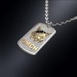 Серебряный жетон РЫСЬ (серебро 925 пробы)