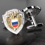 Серебряные запонки ФСО РОССИИ (серебро 925 пробы)