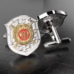 Серебряные запонки МВД РОССИИ (серебро 925 пробы)