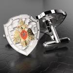 Серебряные запонки МЧС РОССИИ (серебро 925 пробы)