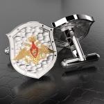 Серебряные запонки Министерство Обороны РОССИИ (серебро 925 проб