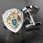 Серебряные запонки ФПС РОССИИ (серебро 925 пробы)