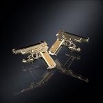 Серебряные запонки пистолет СТЕЧКИНА (серебро 925 пробы)