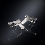 Серебряные запонки пистолет ГЛОК (серебро 925 пробы)