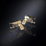 Серебряные запонки пистолет ПМ (серебро 925 пробы)
