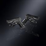 Серебряные запонки пистолет ЯРЫГИНА (серебро 925 пробы)
