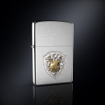 Зажигалка РЫСЬ РОССИИ эмблема из серебра