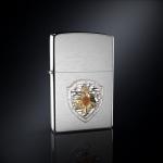 Зажигалка МЧС РОССИИ эмблема из серебра