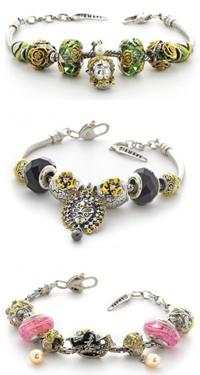 Подвески-шармы, перлины, браслеты